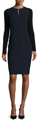 Elie Tahari Iman Seamed Sheath Dress $398 thestylecure.com