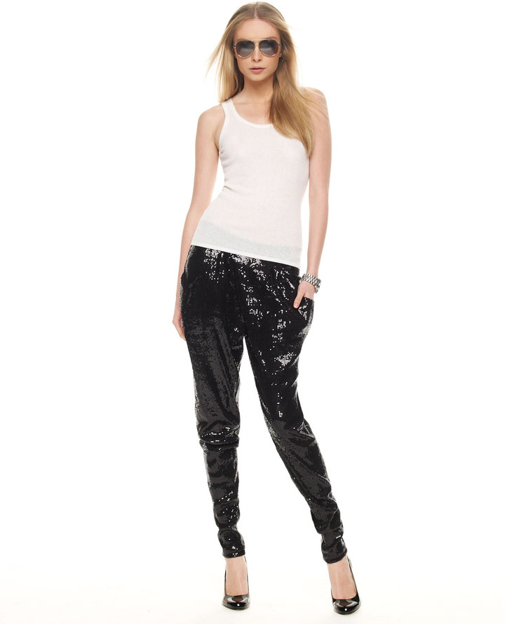 MICHAEL Michael Kors Deep-Pocket Sequin Pants