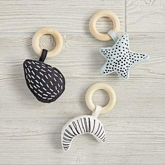 Set of 3 Celestial Baby Rattles $24 thestylecure.com