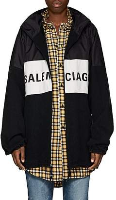 Balenciaga Women's Logo-Print Denim Jacket - Black