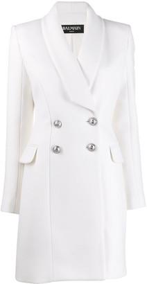 Balmain double breasted long line jacket
