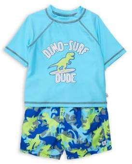 Flapdoodles Baby Boy's Two-Piece Rash Guard & Shorts Set