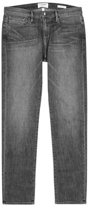 Frame L'Homme Faded Grey Straight-leg Jeans