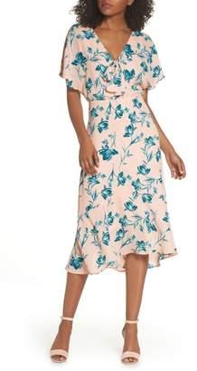 Chelsea28 Tie Front V-Neck Dress