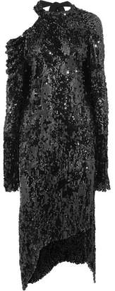 Magda Butrym - Blackpool Cold-shoulder Sequined Knitted Midi Dress