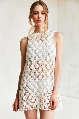 Kimchi Blue Floral Crochet Tunic Top $98 thestylecure.com