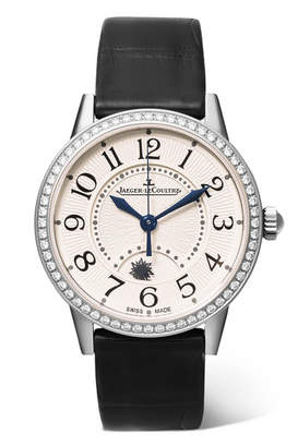 Jaeger-LeCoultre Rendez-vous Night & Day 29mm Stainless Steel, Alligator And Diamond Watch - Silver