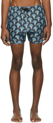 Neil Barrett Blue Aqua Shorts