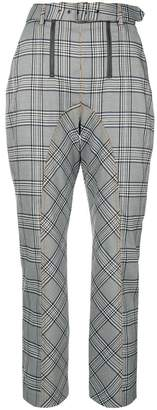 Self-Portrait plaid tailored trousers