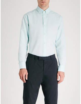 Tiger of Sweden Joar slim-fit cotton and linen-blend shirt