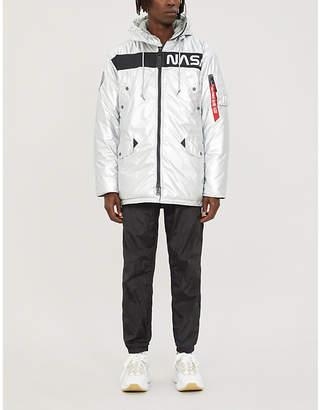 Alpha Industries Reflective NASA-print metallic padded shell jacket