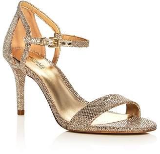 MICHAEL Michael Kors Simone Glitter High-Heel Sandals