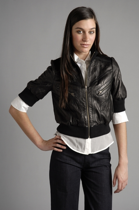 Jamison Hendrix Crop Leather Jacket
