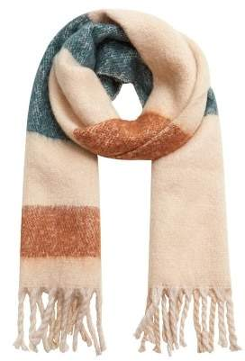 Violeta BY MANGO Striped knit scarf