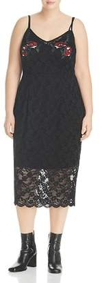 City Chic Plus Embroidered Lace Dress