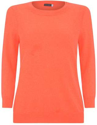 Mint Velvet Neon Orange Simple Crew Knit