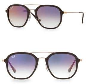 Ray-Ban 52MM Double Bridge Colored Sunglasses