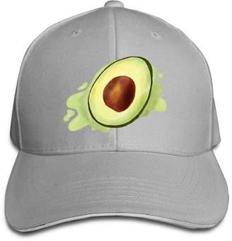Jichirly Cool Avocado Paint Creative Design Unisex Cotton Sandwich Peaked  Cap Adjustable Baseball Hat Caps 5621f3a20bf4
