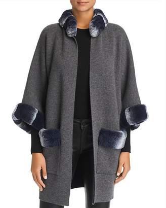 Maximilian Furs Rabbit Fur Trim Cashmere Cardigan - 100% Exclusive