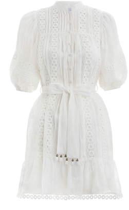 Zimmermann Castile Flower Short Dress