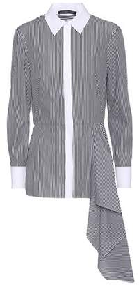 Alexander McQueen Asymmetric cotton shirt