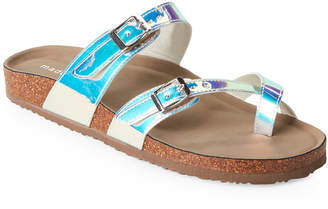 Madden-Girl Iridescent Bryceee Footbed Sandals