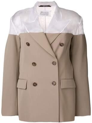 Maison Margiela sheer shoulder blazer