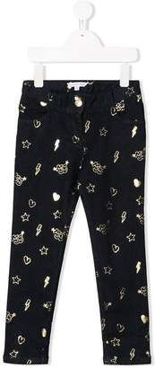 Little Marc Jacobs metallic print jeans