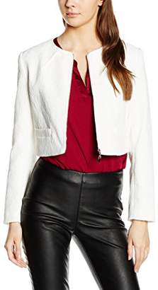 Almost Famous Women's Textured Cropped Jacket Long Sleeve Blazer