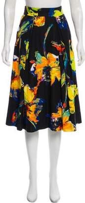 Milly Printed Knee-Length Skirt
