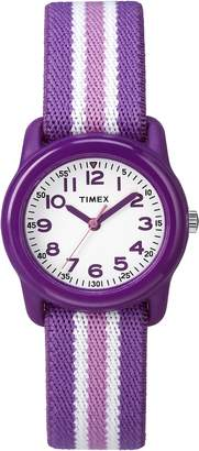 Timex Kid's TW7C061009J Girl's Purple Stripe Analog Watch
