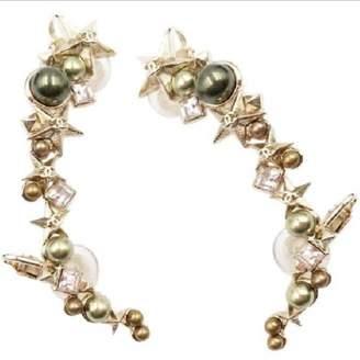 Chanel Green Metal Earrings