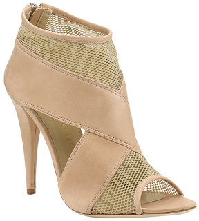 Loeffler Randall - Quinn - Nude Leather and Mesh Bootie