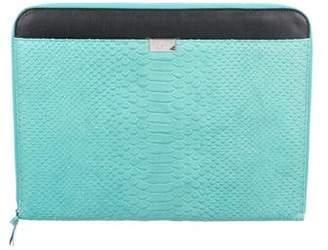 Diane von Furstenberg Embossed Leather Laptop Case w/ Tags