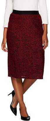 Linea By Louis Dell'olio by Louis Dell'Olio Textured Knit Midi Skirt