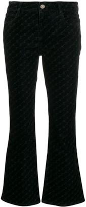 Stella McCartney Skinny Kick monogram flared jeans