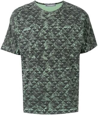 Issey Miyake Pre-Owned 1980's triangular pattern T-shirt