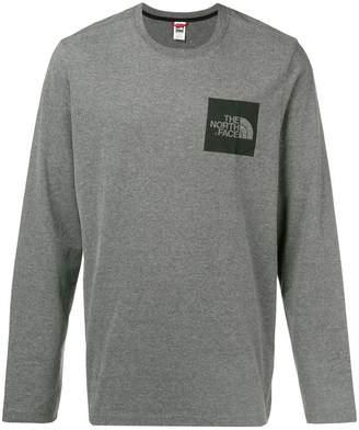 The North Face logo print long sleeve T-shirt