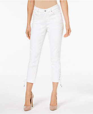 Levi's Lace-Up Cropped Jeans