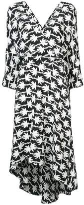 Diane von Furstenberg palm print wrap dress