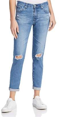 AG Jeans Prima Roll Up Jeans in Sea Sprite Destructed - 100% Exclusive