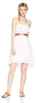 Amy Byer A. Byer Junior's Ruffle Front Belted Dress