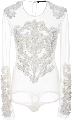 Amen Couture Bead Embroidered Bodysuit