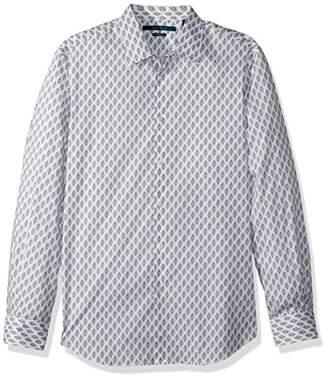 Perry Ellis Men's Long Sleeve Print Shirt