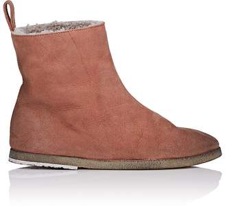 Marsèll Women's Shearling-Lined Suede Ankle Boots