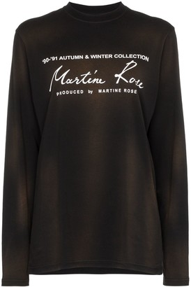 Martine Rose logo-print long-sleeve T-shirt