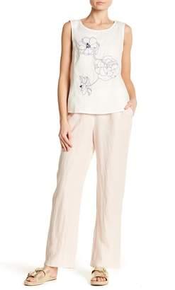 Ellen Tracy Pinstripe Linen Pants