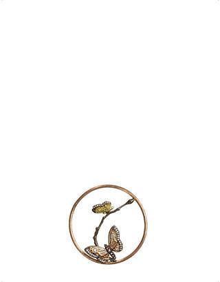 Rosegold Annoushka Butterflies Hoopla 18ct rose-gold and diamond pendant
