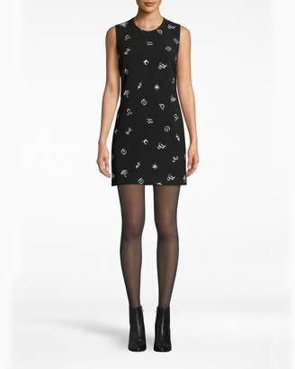 Nicole Miller Embroidered Horoscope Shift Dress