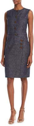 Derek Lam Button-Front Denim Shirtdress